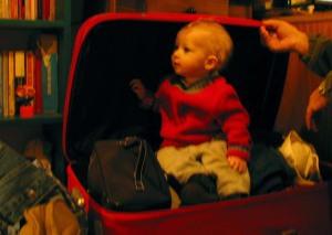 Francisco está pronto pra viajar!